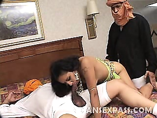 Cock greedy Samtra has an insatiable pussy that she enjoys blowjob brunette indian