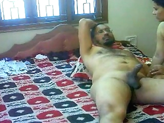 #NaziaPathan Indian arab housewife with a sexy butt having sex with her lover - part 2/2 arab big ass doggystyle