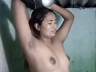 Swathi Naidu Bathing indian